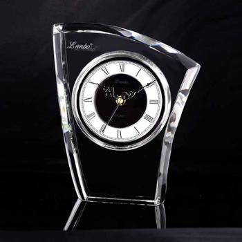 康巴丝 兰博 正品包邮 二代电波机芯 电波钟 静音扫秒 自动校时 简约时尚 书房卧室办公室 水晶座钟 钟表