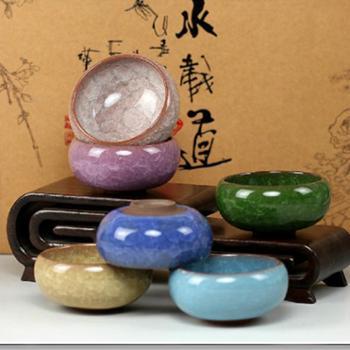 陶立方 台湾结晶冰裂茶杯紫砂功夫茶杯陶瓷茶具普洱茶红茶杯6个一套 TF-5134
