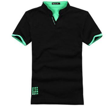 泽优诚品新款英伦风时尚舒适透气男士立领短袖POLO衫T恤衫TX100
