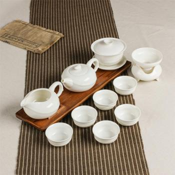 陶立方德化玉瓷整套茶具茶壶白瓷茶具套装功夫茶具陶瓷茶具礼盒包装礼品TF-5748
