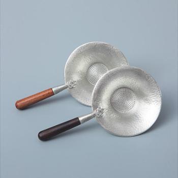 陶立方锡茶漏套装过滤器日式锤纹茶漏组手工锡茶漏功夫茶具配件TF-6018