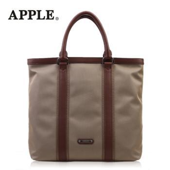 Apple苹果时尚手提包男竖款韩版公文包单肩包休闲电脑包男包潮包