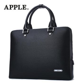Apple苹果男包商务牛皮包单肩包斜挎包男士手提包牛皮男公文包