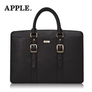 Apple苹果真皮商务男包头层牛皮男士手提包公文单肩斜挎包电脑包