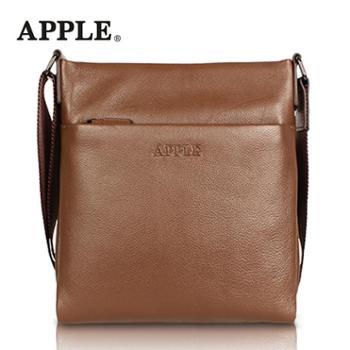 APPLE苹果真皮斜挎包男竖款单肩包男头层牛皮iPAD包时尚男包韩版