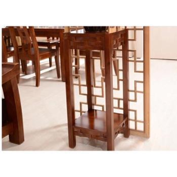 实木花架高端纯花梨木现代中式落地架子客厅装饰架