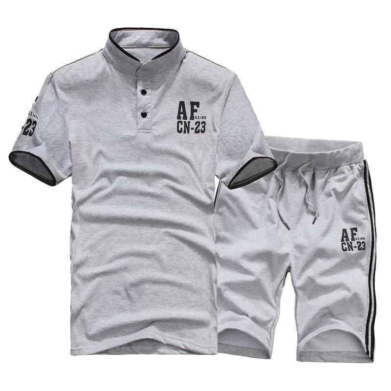 2014夏季男士休闲运动套装 男式短裤短袖T恤休闲套装男2301