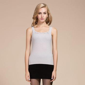 衣锦牧园新款羊绒衫女式吊带100%纯山羊绒羊绒衫女款背心时尚羊绒吊带