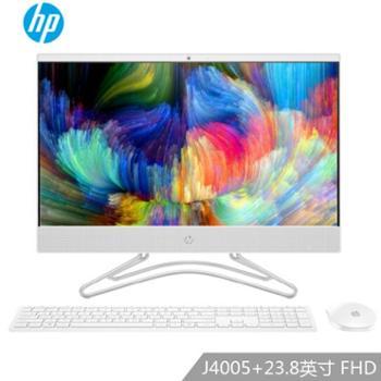 惠普(HP)24-f010wcn 23.8英寸 窄边框 台式一体机电脑 白色 官方标配