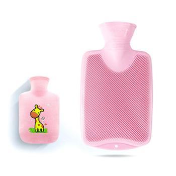 德国进口Fashy注水热水袋PVC材质0.8L赠卡通可拆洗外套