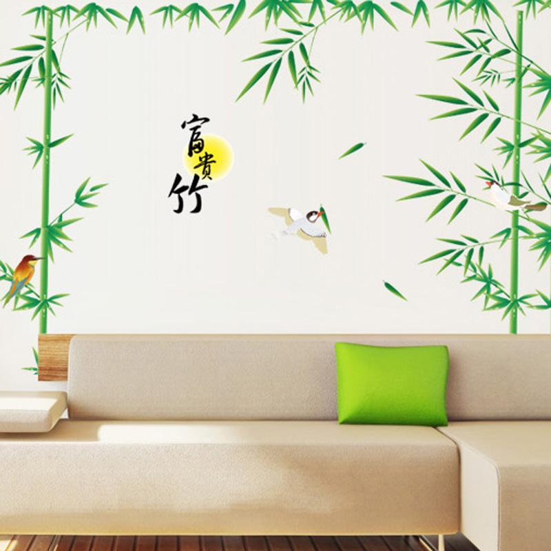大型客厅背景墙彩绘