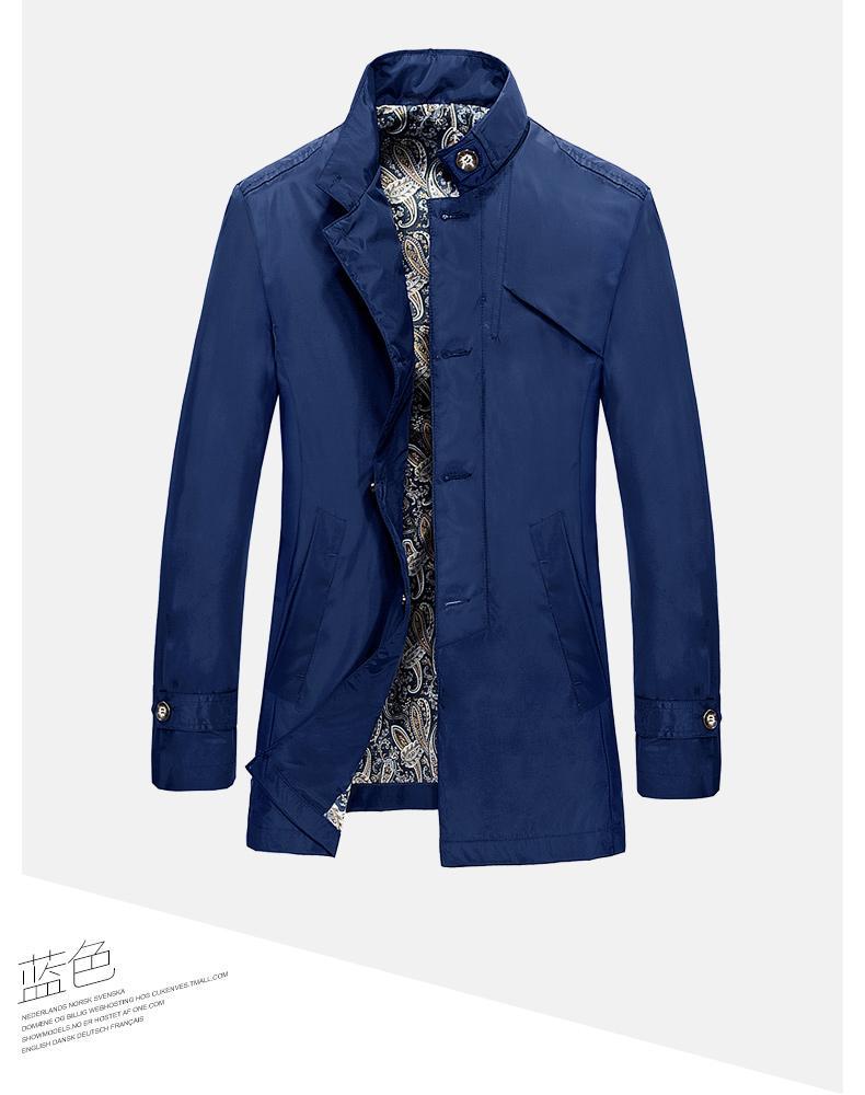 纯羊毛加厚呢大衣 男装 修身