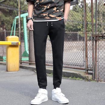 点就 休闲运动裤男5XL宽松休闲夏季薄款束脚收口裤子大码卫裤跑步长裤