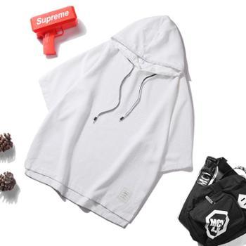 点就5分袖T恤男韩版潮学生宽松ulzzang春夏bf原宿风情侣连帽蝙蝠衫女TX1806。