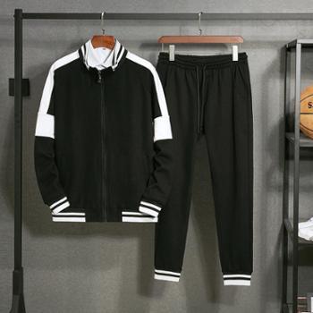 点就2019青少年卫衣套装男韩版两件套春季学生帅气一套衣服休闲运动装DJ-9191