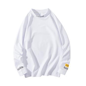 男士个性纯色长袖t恤男体恤宽松百搭上衣服潮牌秋季新品DS523