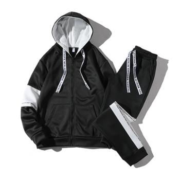 男士卫衣连帽套装秋季韩版潮流外套青少年学生休闲运动帅气一套装DS156