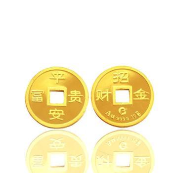 武汉金凰珠宝--招财金钱 10g古铜钱造型 寓意财源滚滚来