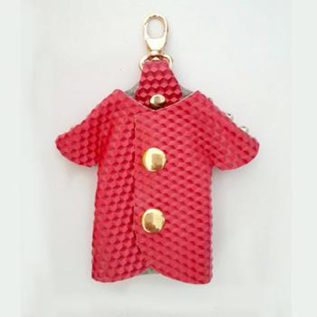 MABINRY糖果色可爱小衣服牛皮真皮钥匙包甜美钥匙扣皮套