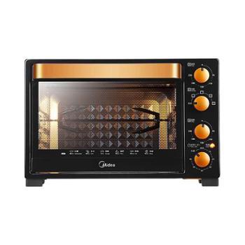 美的(Midea)升级款电烤箱T3-L326B黑色32升旋转烤架