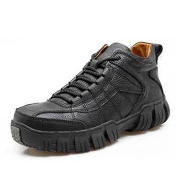 伶羊冬季新品 男士皮靴 加毛保暖 休闲男靴子 冬季户外防滑棉皮鞋