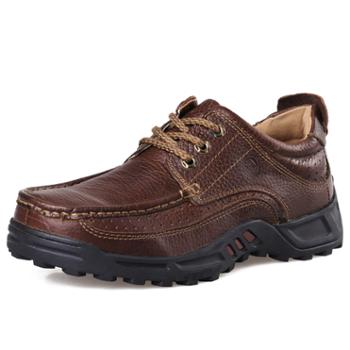 春季男士休闲鞋 经典款防滑耐磨男皮鞋 真皮休闲男鞋