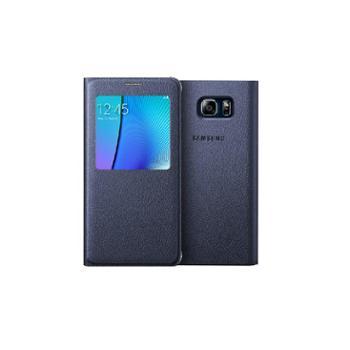 三星Galaxy Note5原装皮套 N9200智能开窗保护套 翻盖式 手机皮套