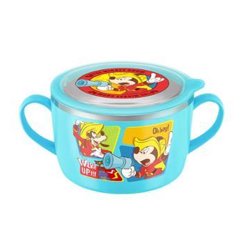 爱婴小铺迪士尼乐趣米奇不锈钢双手柄大面碗TKCM11004-05/TKCN11002-05