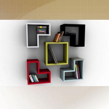 唯优网书架:现代简约模块型墙上置物架