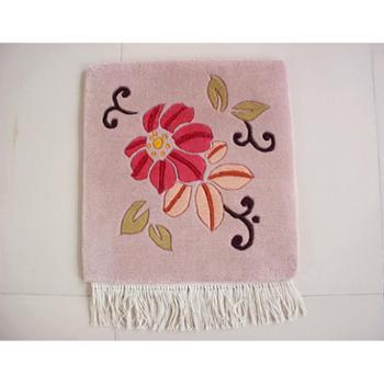 天发 100%纯羊毛手工地毯/砍毯 坐垫 椅垫 沙发垫 /定做