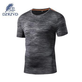 杜戛地户外情侣短袖速干T恤弹力冰感透气网孔健身衣18108