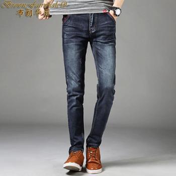 布朗华菲新款男士青年牛仔裤四面弹休闲裤长裤修身小脚裤002