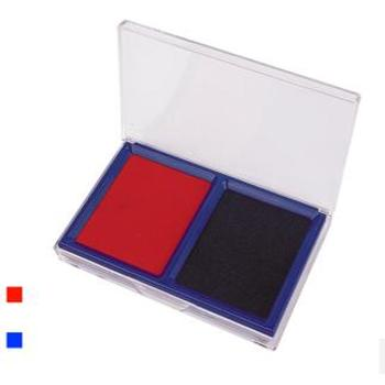 Deli/得力9865印台 双色印台 红色+蓝色 财务印台