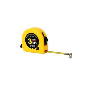 得力3米钢卷尺8202 抗摔外壳尺子 测量工具鲁班木工尺 每个