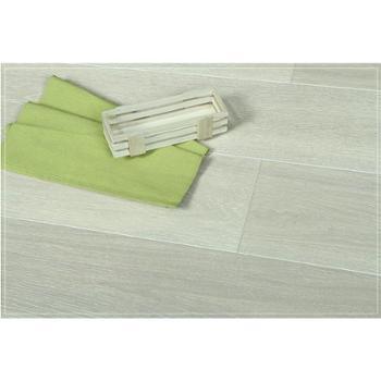 【四合地板】三层白栎浮雕象牙白企口
