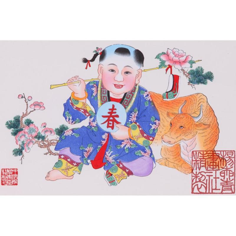 杨柳青年画 春牛图,善融商务个人商城仅售260图片