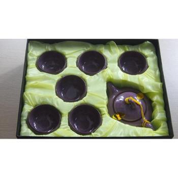 精品茶具7头冰裂釉紫色