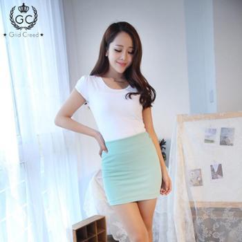 2013年新品百搭超显瘦高弹力性感包臀短裙糖果色半身裙A字裙