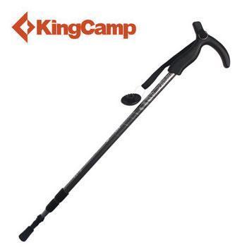 KINGCAMP铝合金T型柄徒步3节橡胶碳钨钢登山杖户外手杖ka3620