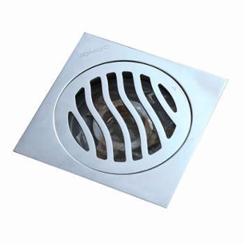 JOMOO九牧铜镀铬 防臭地漏芯卫生间浴室淋浴下水方形地漏 92145