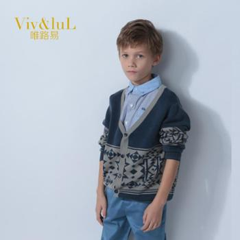 唯路易(Viv&luL)2014男童新春装儿童宝宝衬衫男童长袖童装衬衫纯棉长袖上衣