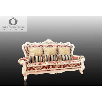 梓木 欧式新古典风格 实木欧式 三人沙发 03—B101-3