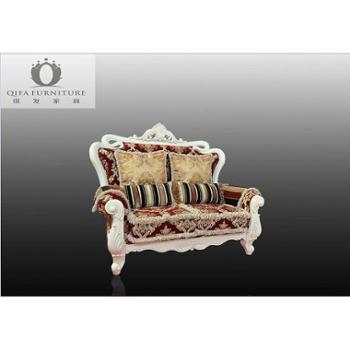 梓木 欧式新古典风格 实木欧式 双人沙发 03—B101-2
