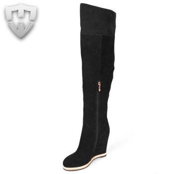 MW莫畏轻奢名品2014春装真皮长靴女长筒靴高筒靴女靴子