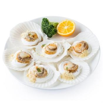 獐子岛蒜蓉粉丝扇贝(速冻生制)200g(6枚装)