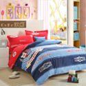 欧可正品高端儿童纯棉四件套学生全棉床单被套磨毛卡通男女童床品