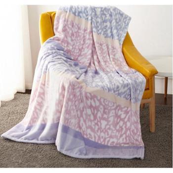 梦洁 法兰绒毯——罗恩粉紫色