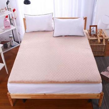 英国雅迪娜家纺两面法莱绒绗绣耐压床垫1.5m1.8m床喜莱雅