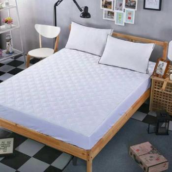 英国雅迪娜家纺纯色加厚可水洗全棉床罩全棉席梦思保护套夹棉床笠1.5m1.8m 喜莱雅