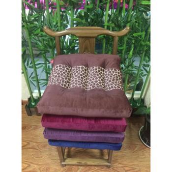 英国雅迪娜家纺水晶绒方凳垫正方形加厚椅垫布艺学生坐垫办公室靠垫椅子垫单只 喜莱雅